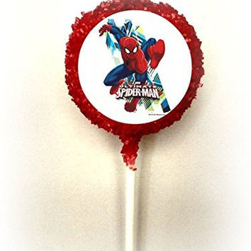 THE ULTIMATE SPIDERMAN White Chocolate Covered Oreo Cookie Pops