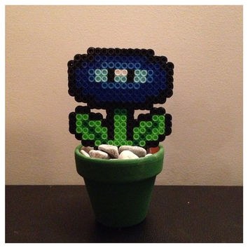 Flower Power Plant from Mario Blue by K8BitHero on Etsy