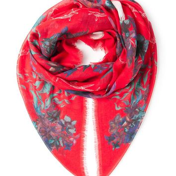 Zadig & Voltaire floral print skull scarf