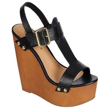 """The Perfect Wedge"" Black Sandals"
