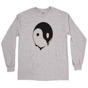 Melty Ying Yang L/S Gray T-Shirt by Altru Apparel