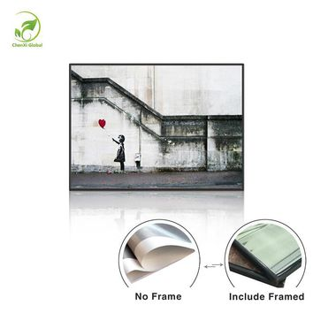 Canvas Single Wall Art Painting There Is Always Hope Melamine Sponge Board Framed Prints Oil Painting Modern BANKSY Art Paint