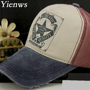 Yienws Authentic Official Quality Women Baseball Cap Summer Trucker Cap Kpop Viseras Vintage Sailor YH208