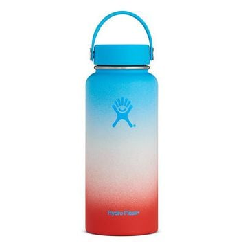 Limited Edition Hydro Flask Shaved Ice Ombre Wide Mouth 32oz - Coconut Rainbow