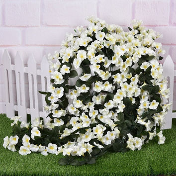 Artificial Fake Flower Art Orchid Bouquet Wedding Bride Home Decor