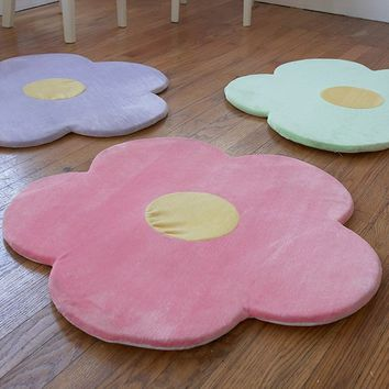 Flower Area Rug for Kids Girls Room Girls Room & Baby Nursery Floor Rugs Mat