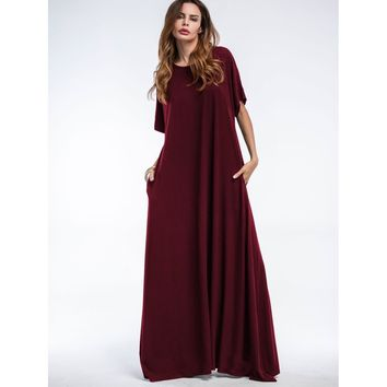 Hidden Pocket Side Tent Dress