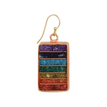 Align Your Chakras Stone Chips Earring