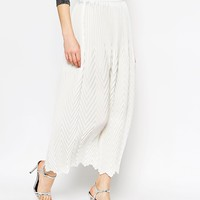 ASOS Chevron Pleat Maxi Skirt at asos.com