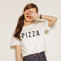 Pizza T-Shirt Funny shirt Quote tumblr fashion shirts women  - Gift for friend - Present