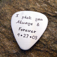 Personalized Guitar Pick - Hand Stamped Guitar Pick