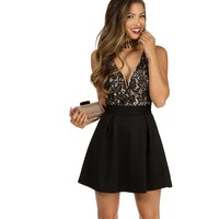 Black Shining Star Skater Dress