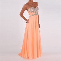 Morrell Maxie Juniors Jeweled Chiffon Gown at Von Maur