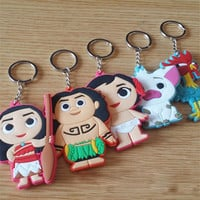 5 Styles Moana Maui Heihei Pua Anime Figures Toy Soft PVC Model Toys Cute Cartoon Key Chain Toys For Kids Children's day Gift