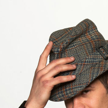 Vintage Houndstooth Men's Fedora Hat in Detective by BasyaBerkman