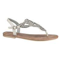 Juniper Celtic Knot Sandal - White/Gray/Black