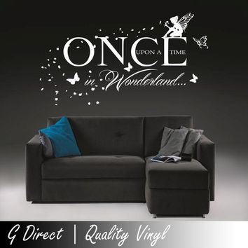 Once Upon A Time In Wonderland Wall Sticker Fairy by GDirect