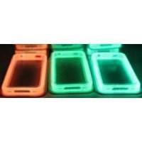 Buy Here Click Here® Orange Translucent Glow in the Dark Premium Bumper Case for Apple iPhone 4