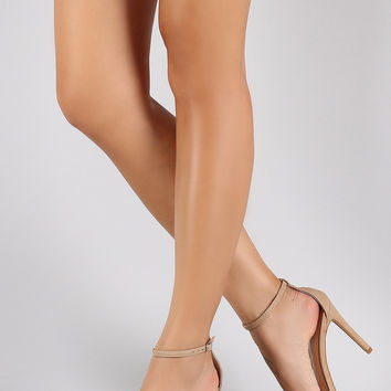 Anne Michelle Ankle Strap Open Toe Stiletto Heel