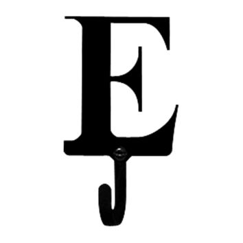 Wrought Iron Letter E Wall Hook Small