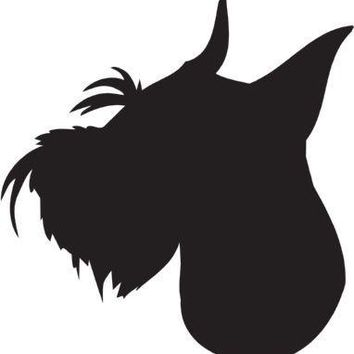 Standard Schnauzer Silhouette Dog Puppy Breed Long Die Cut Vinyl Transfer Decal Sticker