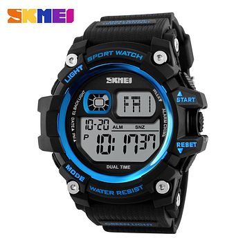 Men Digital Watch Big Dial Multi function Chronograph Outdoor Sports Watches Water Resistant Shock Wristwatches