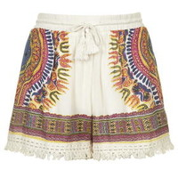 Tassel Printed Shorts by Band of Gypsies - Multi