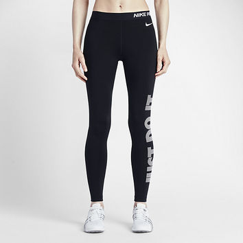 The Nike Pro Warm Women's Graphic Training Tights.