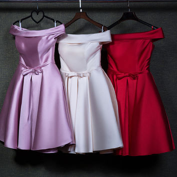 HOT FASHION OFF SHOULDER CUTE BOW DRESS