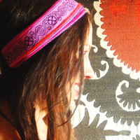 Pink Hmong Tribal Headband