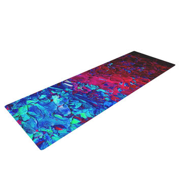 "Ebi Emporium ""Eternal Tide"" Red Blue Yoga Mat"