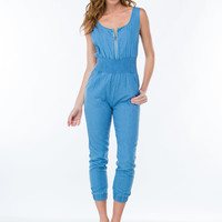 Smock Me Out Chambray Jumpsuit GoJane.com