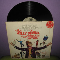 HOLIDAY SALE Rare Vinyl Record Willy Wonka & the Chocolate Factory Original Soundtrack LP 1971 Gene Wilder Classic