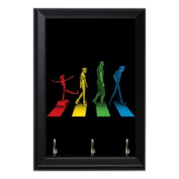 Cowboy Bebop Rainbow Crosswalk Anime Geeky Wall Plaque Key Holder Hanger