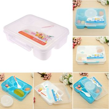 1 pc Portable Microwave Bento Food Container for Kids 5+1 Food Container Storage plastic carrying Food Box Lunchbox