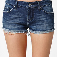 Bullhead Denim Co. Virgo Blue Low Rise Turn Up Hem Denim Shorts at PacSun.com