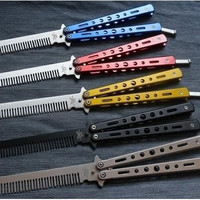 Stainless Steel Practice Training Butterfly Balisong Style Knife Comb [8833570508]
