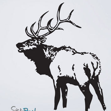 Vinyl Wall Decal Sticker Elk Deer #623