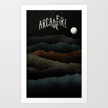 Mountains Beyond Mountains (Arcade Fire) Art Print by Speakerine / Florent Bodart