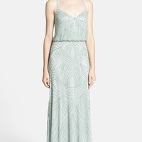 Women's Adrianna Papell Beaded Chiffon Blouson Dress