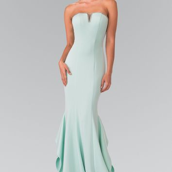 Strapless crepe mermaid bridesmaid dress GL2305