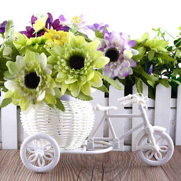 Bike Design Flower Basket Storage Container Flores Artificiales For Flower Plant Home Party DIY Wedding Decoration