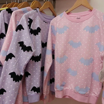 Hello Cavities Twinkle Twinkle Bat Sweatshirt in by hellocavities