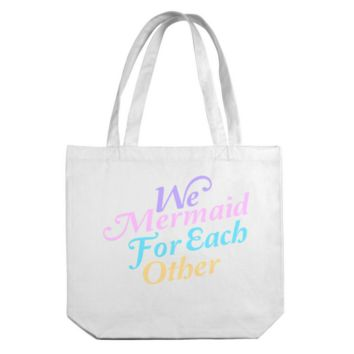 We Mermaid For Each Other Canvas Tote