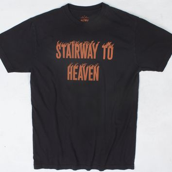 Heaven and Hell black front and back printed graphic tee