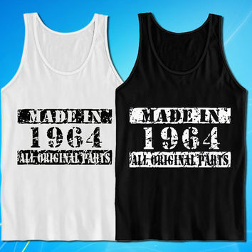 Made In 1964 Vintage 50th Birthday Gift Present tank top for mens and womens