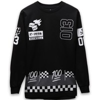 Been Trill Grand Prix Race Day Long Sleeve T-Shirt - Mens Tee - Black