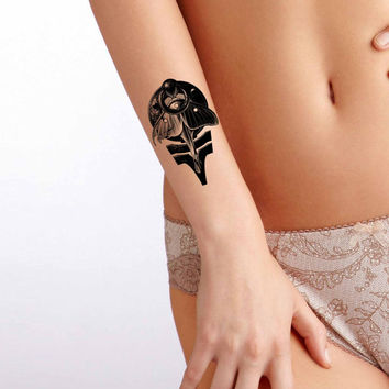 Memento Mori temporary tattoo, Fashion Tattoo