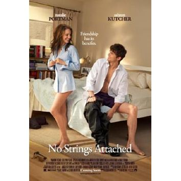 No Strings Attached Movie poster Metal Sign Wall Art 8in x 12in