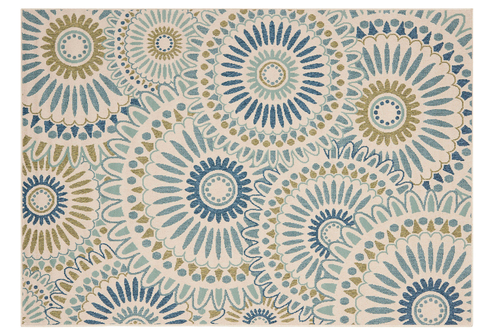 Sultan Outdoor Rug Blue Green Area Rugs from e Kings Lane